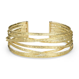 Textured Cuff Bracelet in 18k Yellow Gold
