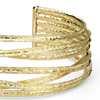 Textured Cuff Bracelet in 18k Yellow Gold