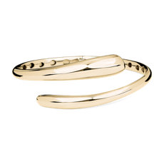 NEW 14k Italian Yellow Gold Bypass Bangle