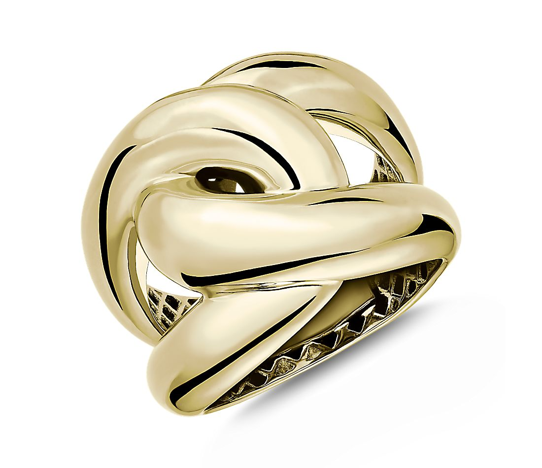14k Italian Yellow Gold Double Link Ring