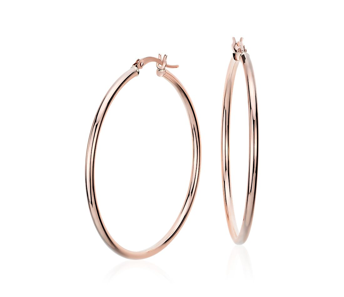 Large Hoop Earrings In 14k Rose Gold 1 5 8