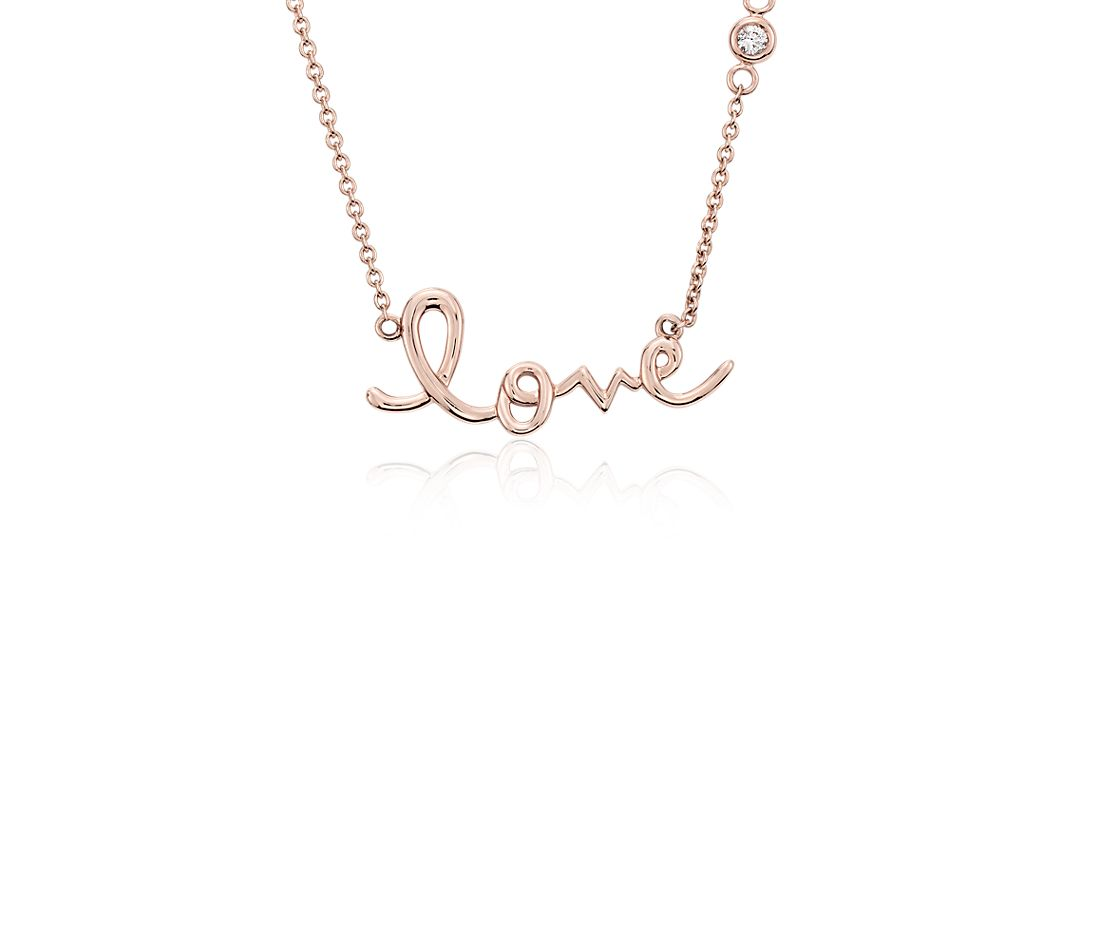 Love Necklace in 14k Rose Gold