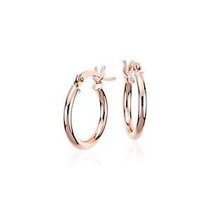 """Small Hoop Earrings in 14k Rose Gold (5/8"""")"""