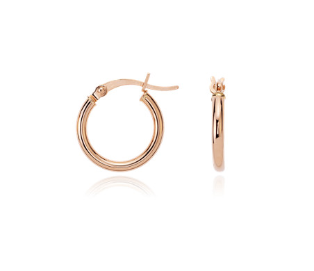 Small Hoop Earrings In 14k Rose Gold 5 8