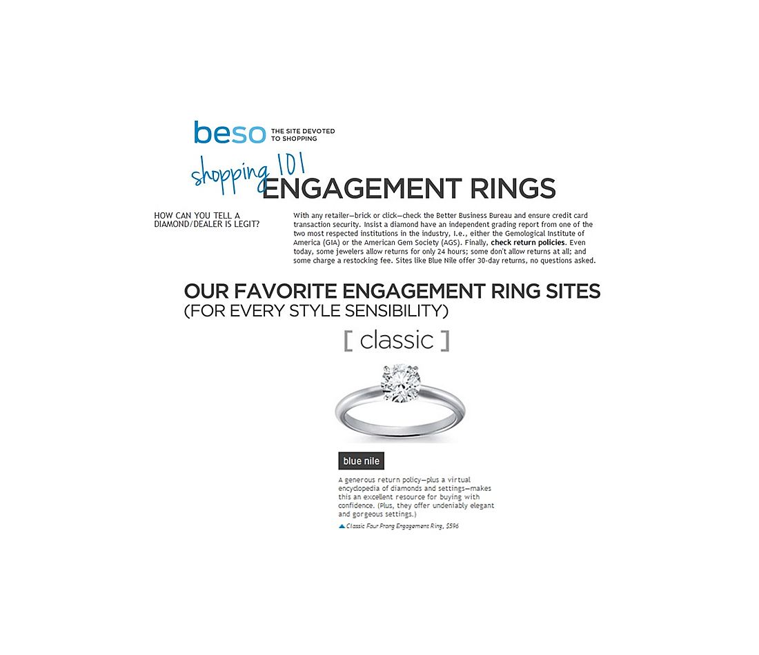 Beso.com - Shopping 101: Engagement Rings