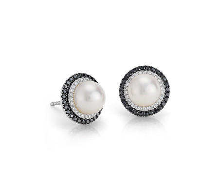 Blue Nile Freshwater Cultured Pearl Stud Earrings in 14k White Gold (7mm)