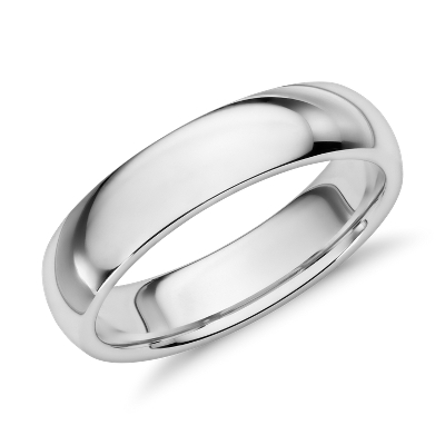 Comfort Fit Wedding Ring in 14k White Gold 6mm Blue Nile