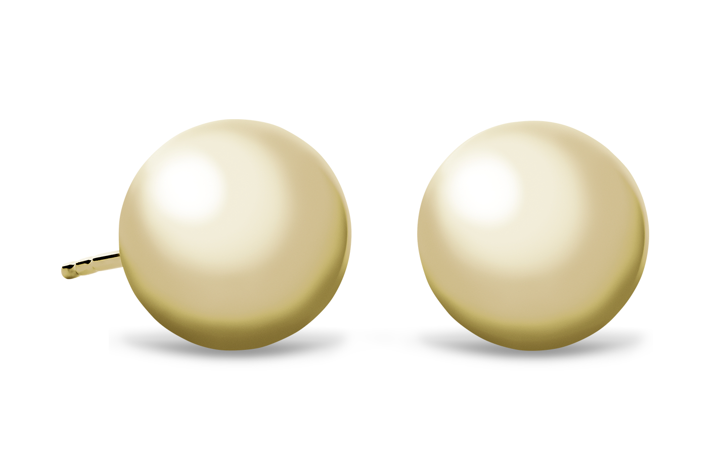 Ball Earrings in 14k Yellow Gold (10mm)