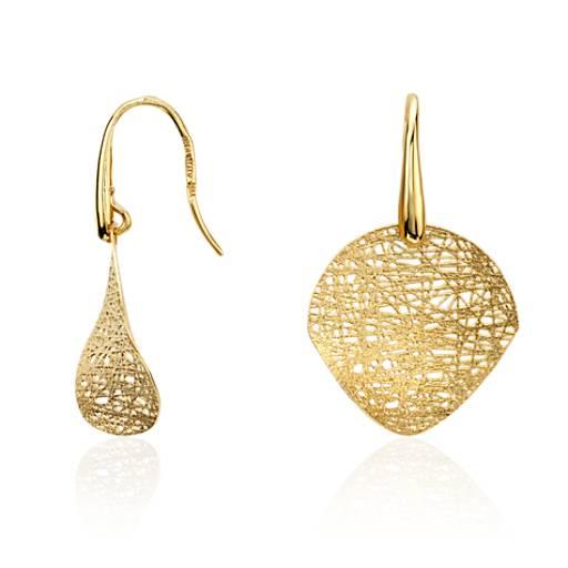 Woven Disc Basket : Woven disc drop earrings in k yellow gold blue nile