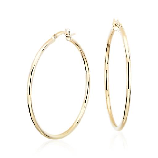 Large Hoop Earrings In 14k Yellow Gold 1 5 8 Quot Blue Nile