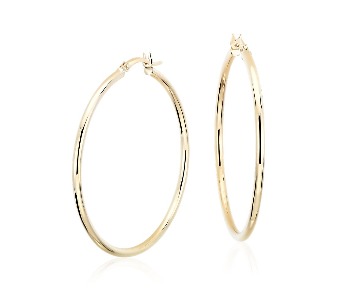 Large Hoop Earrings In 14k Yellow Gold 1 5 8