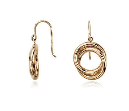 Blue Nile Love Knot Drop Earrings in 14k Italian Yellow Gold IVX9sACQt