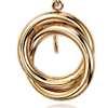 Love Knot Drop Earrings in 14k Yellow Gold