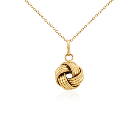 Grande love knot pendant in 14k yellow gold blue nile grande love knot pendant in 14k yellow gold aloadofball Choice Image