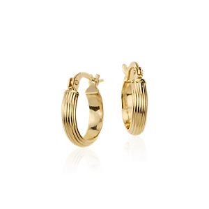 "Mini Hoop Earrings in 14k Yellow Gold (7/16"")"