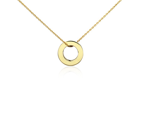Petite circle pendant in 14k yellow gold blue nile petite circle pendant in 14k yellow gold aloadofball Image collections