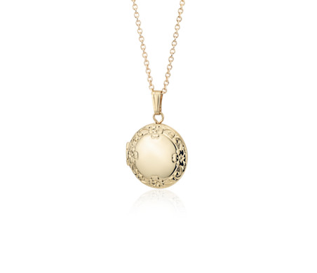 to with gold flowers add shop locket engraved hand wishlist solid charles green loading lockets