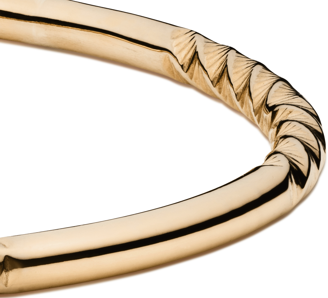 Bracelet jonc torsadé en or jaune 14carats