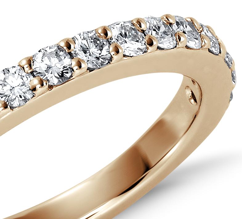 Bague en diamants sertis pavé en or jaune 18carats (1/2carat, poids total)