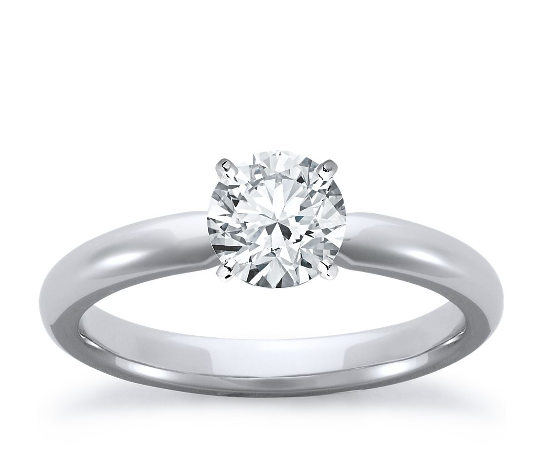 Classic Comfort Fit Engagement Ring in 18k White Gold (2.5mm)