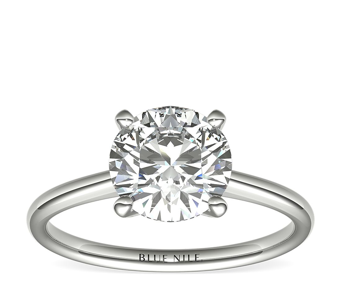 2 Carat Astor Petite Solitaire in Platinum (H/SI2) Ready-to-Ship
