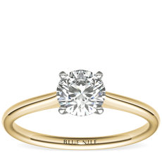 3/4 Carat Petite Solitaire Engagement Ring in 18k Yellow Gold (I/SI2) Ready-to-Ship