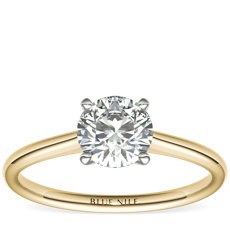 1 Carat Petite Solitaire Engagement Ring in 18k Yellow Gold (I/SI2) Ready-to-Ship