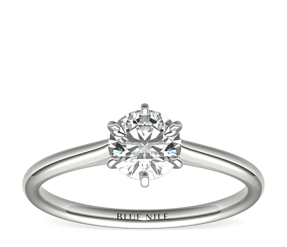 3/4 Carat Astor Petite Nouveau Six-Claw Solitaire (F/VS2) Ready-to-Ship
