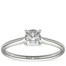 3/4 Carat Astor Cushion-Cut Petite Solitaire in Platinum (F/VS2) Ready-to-Ship