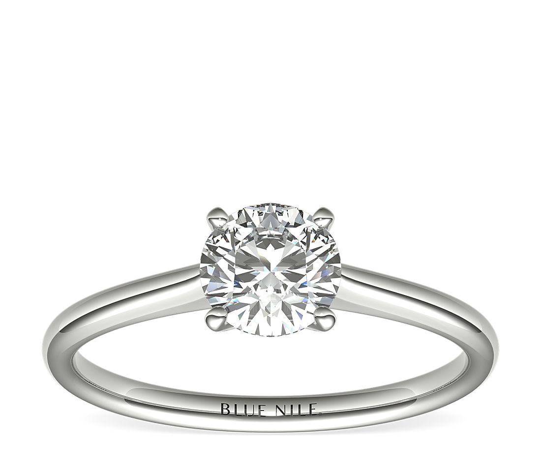 3/4 Carat Astor Petite Solitaire in Platinum (H/SI2) Ready-to-Ship