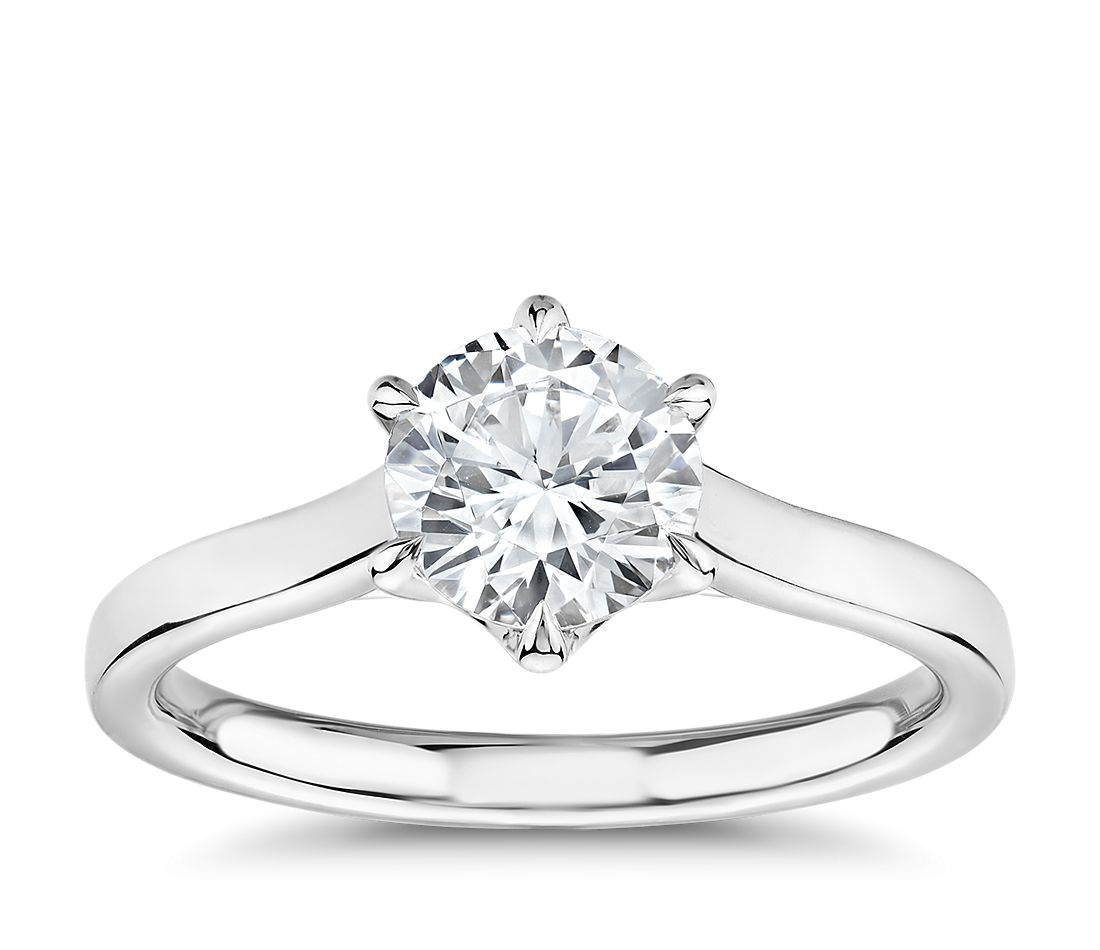 The Gallery Collection Six Claw Trellis Solitaire Diamond