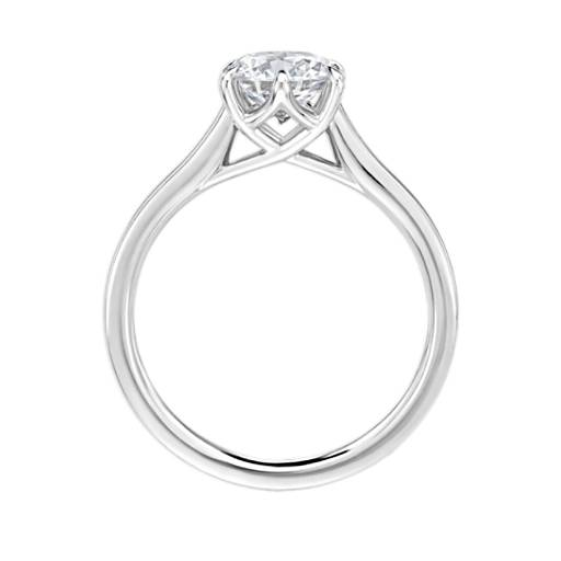 The Gallery Collection Six-Claw Trellis Solitaire Diamond Engagement Ring