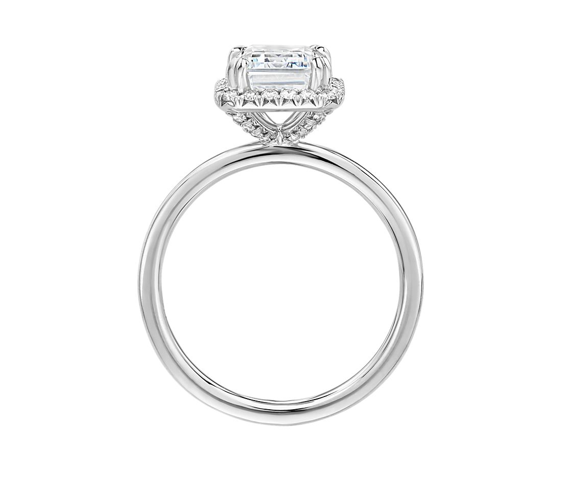The Gallery Collection™ Simple Emerald-Cut Halo Diamond