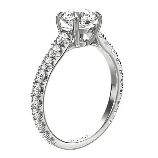 The Gallery Collection™ Cathedral Pave Diamond Engagement Ring