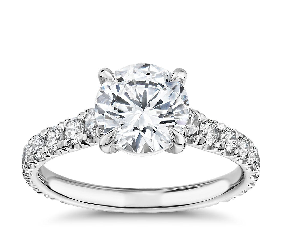 The Gallery Collection™ Cathedral Pave Diamond Engagement