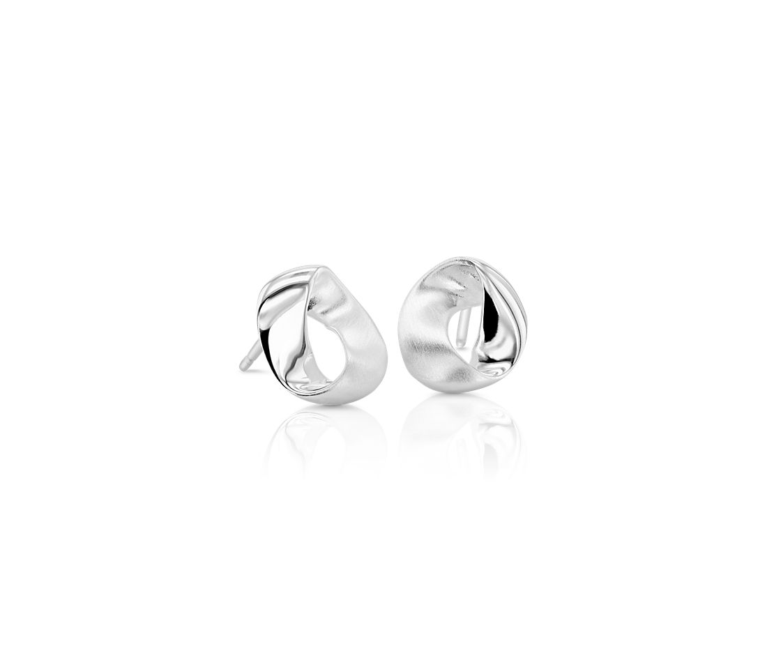 Abstract Loop Studs in Sterling Silver