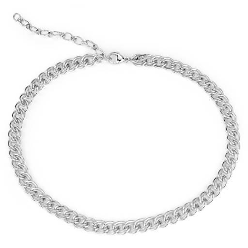 Blue Nile Heart Charm Choker Necklace in Sterling Silver k54xQQM