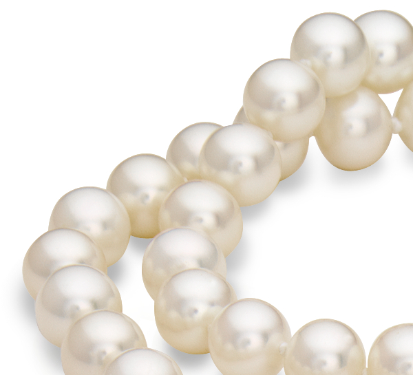 Classic Akoya Cultured Pearl Strand with 18k White Gold (7.5-8.0mm) 16