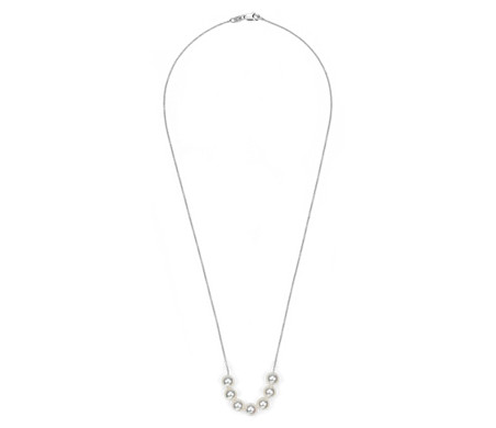 Akoya Cultured Pearl Smile Necklace