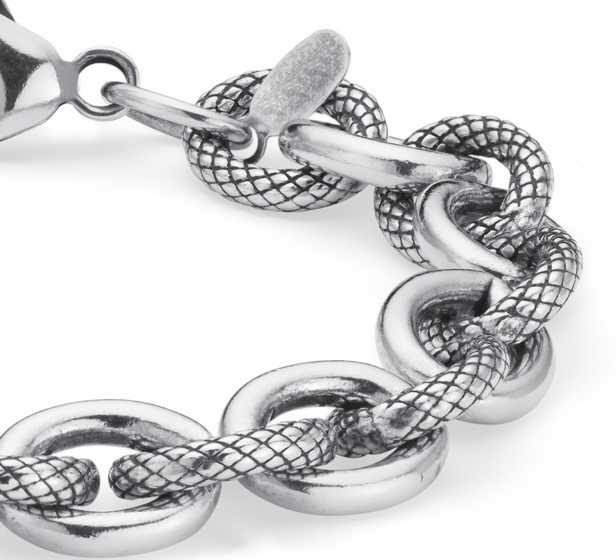 Bracelet à différents maillons en argent sterling