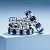 first alternate view of Blue Nile Studio Alternating Sapphire and Diamond Emerald-Cut Eternity Band in Platinum