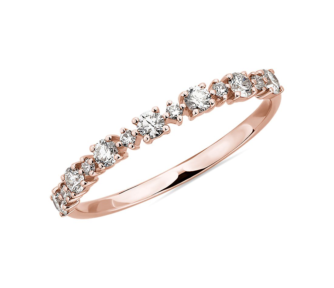 Alternating Size Diamond Fashion Ring in 14K Rose Gold (1/3 ct. tw.)