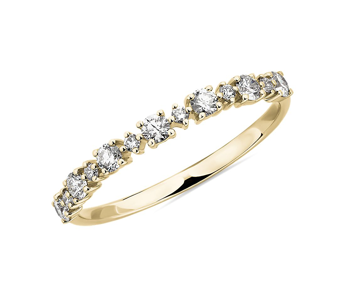 Alternating Size Diamond Fashion Ring in 14K Yellow Gold (1/3 ct. tw.)