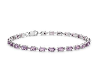bracelet argent amethyste