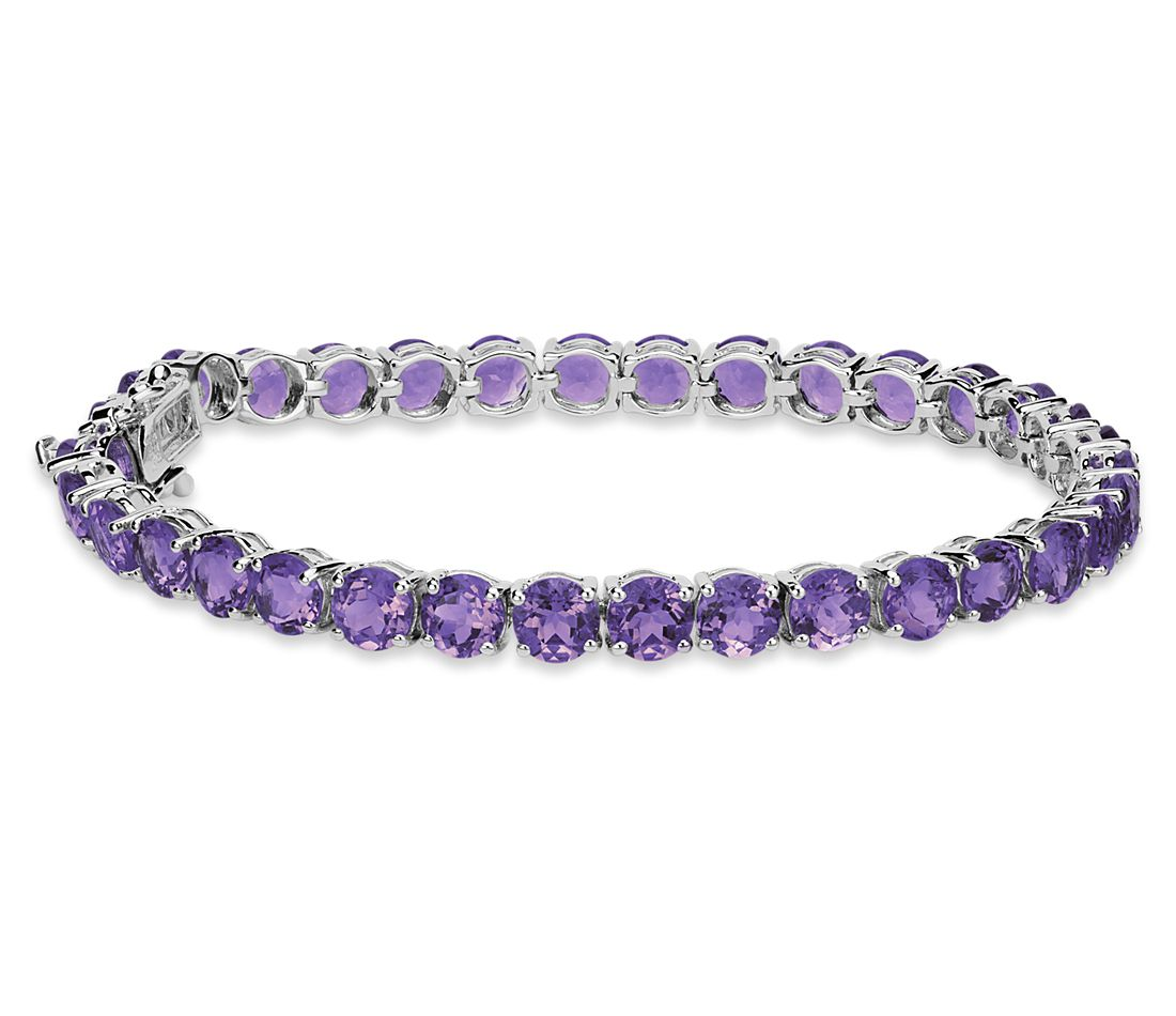 Amethyst Bracelet In Sterling Silver 5mm Blue Nile