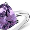 Amethyst Cushion Cut Ring in Sterling Silver