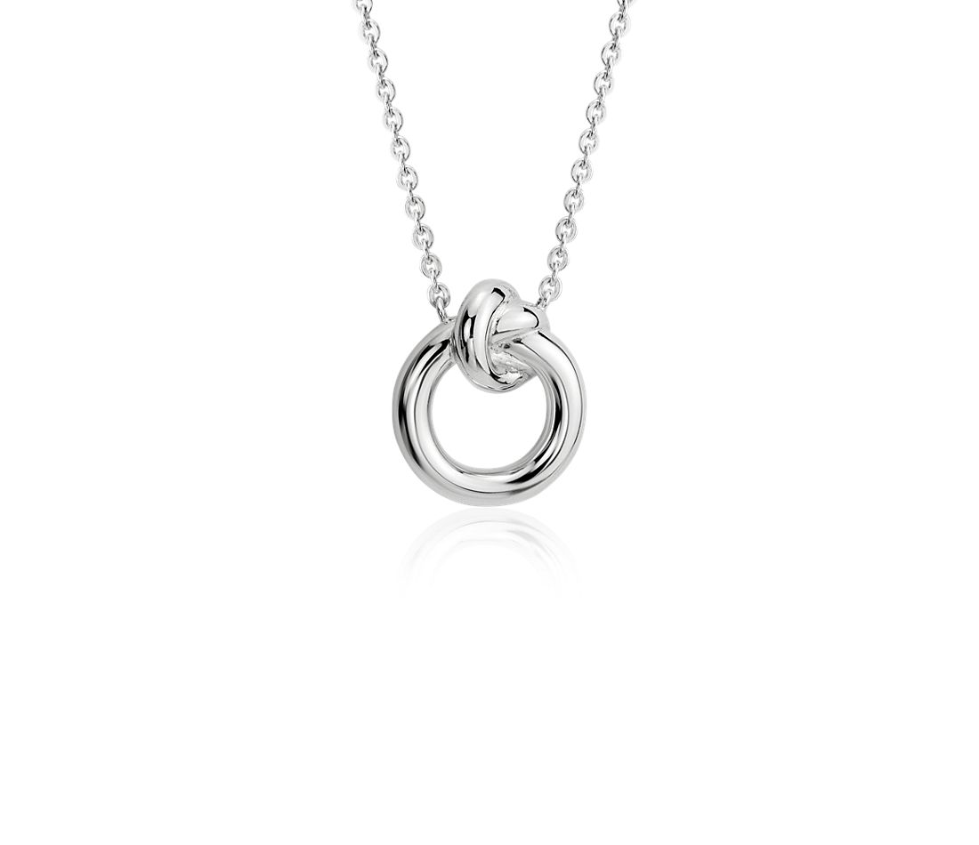 Amity Love Knot Necklace in Sterling Silver