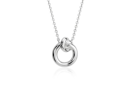 Amity love knot necklace in sterling silver blue nile amity love knot necklace in sterling silver aloadofball Choice Image
