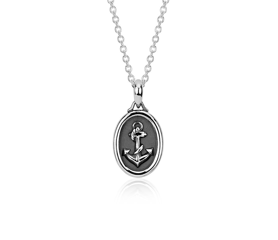 Anchor pendant in sterling silver blue nile anchor pendant in sterling silver aloadofball Images