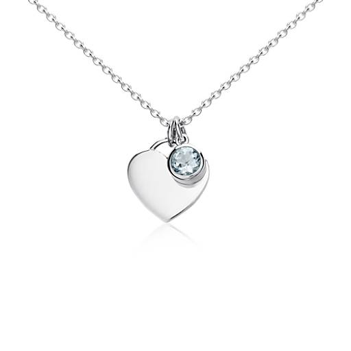 Aquamarine jewelry march birthstone jewelry blue nile aquamarine birthstone heart pendant in sterling silver march 45mm aloadofball Choice Image
